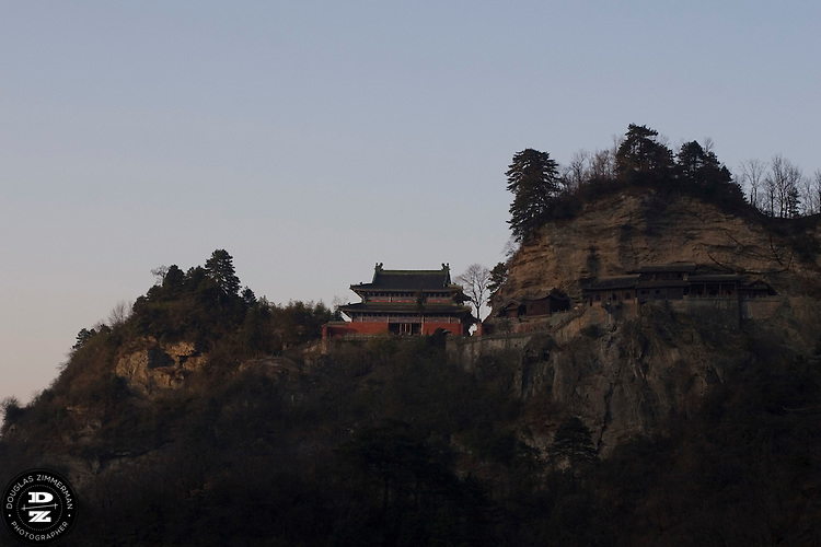 One of the Taoist monasteries located in the  WuDang Shan mountain in Hubei Provence in China.  Photograph by Douglas ZImmerman