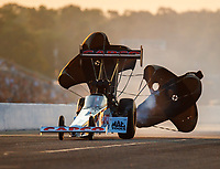 Aug 18, 2017; Brainerd, MN, USA; NHRA top fuel driver Steve Torrence during qualifying for the Lucas Oil Nationals at Brainerd International Raceway. Mandatory Credit: Mark J. Rebilas-USA TODAY Sports