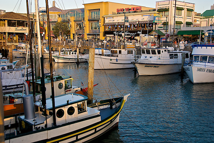 Fishermans Wharf, San Francisco CA, Fishing Boats in for the day