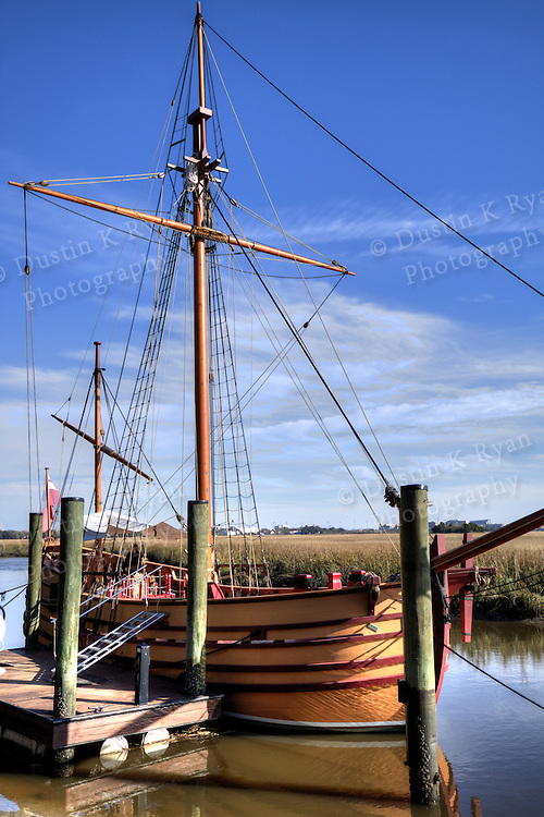 Charles Towne Landing Charleston South Carolina brigantine, ship, wooden, boat, sailboat, new adventure
