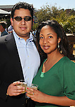 David Perez and Veta Byrd at the Beastly Brunch at the Houston Zoo Sunday Feb. 28,2010. (Dave Rossman Photo)