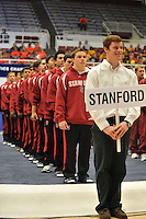 17 April 2008:  The Stanford men's gymnastics team during the 2008 NCAA Men's Gymnastics Championships at Maples Pavilion in Stanford, CA.