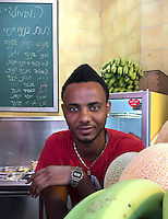 20. &quot;African at juice bar&quot;:  Tel Aviv.<br />