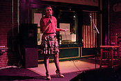 April 9, 2012. Raleigh, NC.. Betty Richardson. A stand up comedy event was held at Tir Na Nog with a sparse audience.