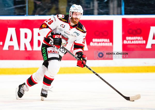 Stockholm 2014-10-14 Ishockey Hockeyallsvenskan AIK - Malm&ouml; Redhawks :  <br /> Malm&ouml; Redhawks Jens Olsson i aktion <br /> (Foto: Kenta J&ouml;nsson) Nyckelord:  AIK Gnaget Hockeyallsvenskan Allsvenskan Hovet Johanneshov Isstadion Malm&ouml; Redhawks portr&auml;tt portrait