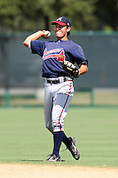 October 6, 2009:  Second Baseman Cole Miles of the Atlanta Braves organization during an Instructional League game at Disney's Wide World of Sports in Orlando, FL.  Miles was drafted in the 19th round of the 2005 MLB Draft.  Photo by:  Mike Janes/Four Seam Images
