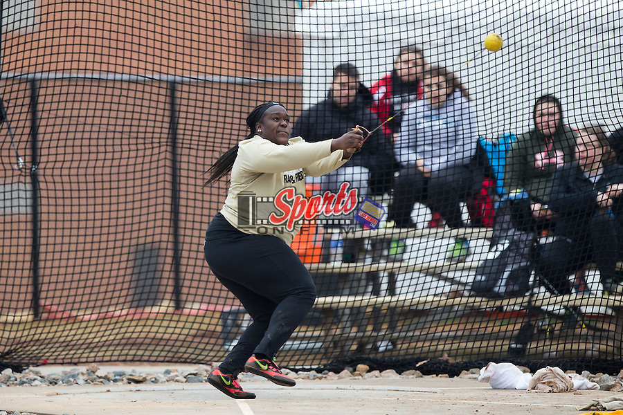 Andrea Vahoua of the Wake Forest Demon Deacons competes in the women's hammer throw at the Wake Forest Open on March 20, 2015 in Winston-Salem, North Carolina.  (Brian Westerholt/Sports On Film)