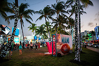MIAMI, FL - JANUARY 28: Fans visit the FOX Sports South Beach studio compound on January 28, 2020 in Miami, USA. The Super Bowl XLIV will take place in the Hard Rock Stadium in Miami between the teams 49ers vs. Chiefs, and it will be played on Sunday, Feb. 2, 2020. (Photo by Eduardo MunozAlvarez/VIEWpress)