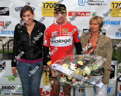 2010-08-15 / Wielrennen / Elite zc. / Slotrit Ronde Van Antwerpen in Duffel / Timothy Dupont won de rode trui..Foto: mpics