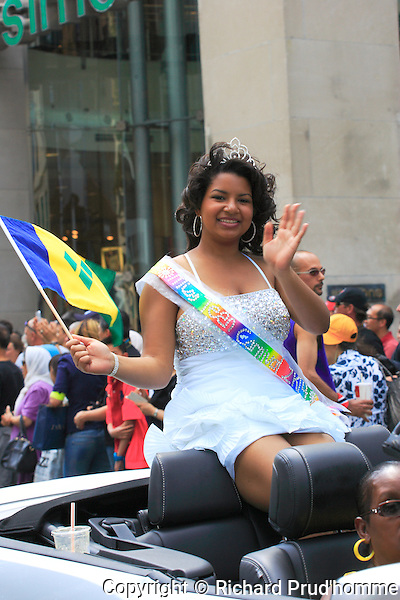 Carifiesta parade in downtown Montreal