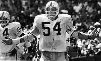 Oakland Raiders Terry Mendenhall bloodied..<br />(1972 photo by Ron Riesterer)