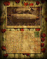 Vintage postcard of soldier and shell, with textures Textured photograph using vintage postcard http://www.vivecakohphotography.co.uk/2011/09/11/to-willie-with-compliments/