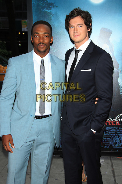 """Anthony Mackie & Benjamin Walker.The Premiere of """"Abraham Lincoln: Vampire Hunter"""" at the AMC Loews Lincoln Square Cinemas, New York, NY., USA..June 18th, 2012.half length blue suit white shirt tie grey gray goatee facial hair black.CAP/LNC/TOM.©LNC/Capital Pictures."""