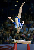 22nd March 2018, Arena Birmingham, Birmingham, England; Gymnastics World Cup, day two, womens competition; Sarah Voss (GER) on the Balance Beam during her competition routine