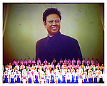 Kim Jong Il on theater in Mangyongdae Schoolchildren's Palace in Pyongyang..
