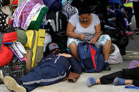 MEDELLÍN, COLOMBIA, MAY 14: Venezuelan migrants want to return to their country, they wait outside the bus terminal in Medellín, Colombia, on May 14, 2020. Migrants hope to have the opportunity to take a bus to the border because to the new pandemic. . from COVID19. (Photo by Fredy Builes / VIEWpress via Getty Images)