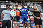 Julian Alaphilippe (FRA) Quick-Step Floors wins La Fleche Wallonne 2018 and Anna Van Der Breggen (NED) Boels Dolmans Cycling Team wins La Fleche Wallonne Femmes, running 198.5km from Seraing to Huy, Belgium. 18/04/2018.<br /> Picture: ASO/Karen Edwards | Cyclefile <br /> <br /> All photos usage must carry mandatory copyright credit (&copy; Cyclefile | ASO/Karen Edwards)