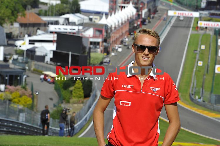 22.08 - 25.08.2013, Circuit de Spa, Francorchamps, BEL, F1, Grosser Preis von Belgien, im Bild  Max Chilton (GBR), Marussia F1 Team <br />  Foto &copy; nph / Mathis