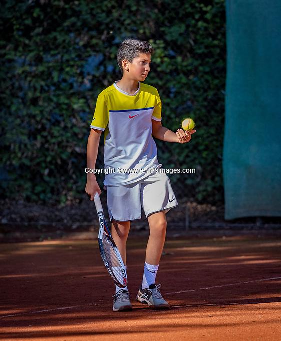 Hilversum, Netherlands, August 6, 2018, National Junior Championships, NJK, Safwan el Hamouti (NED)<br /> Photo: Tennisimages/Henk Koster