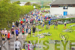 Colaiste na Sceilge was a mass of colour as cyclists taking part in The Ring of Kerry Cycle stopped in Cahersiveen for some refreshments on Saturday last.