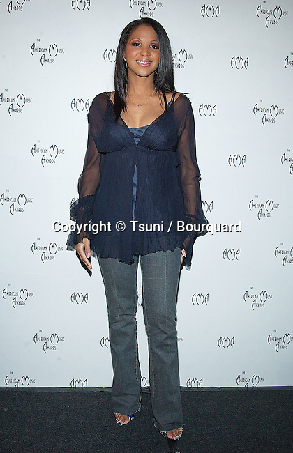 Toni Braxton was presenting the 30th annual AMA Nominations at the Beverly Hilton in Los Angeles. November 19, 2002.