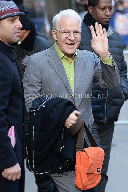 WWW.ACEPIXS.COM<br /> March 13, 2015 New York City<br /> <br /> Steve Martin arriving to Good Morning America on March 13, 2015 in New York City.<br /> <br /> Please byline: Kristin Callahan/AcePictures<br /> <br /> ACEPIXS.COM<br /> <br /> Tel: 646 769 0430<br /> e-mail: info@acepixs.com<br /> web: http://www.acepixs.com