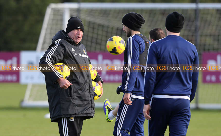 West Ham manager Sam Allardyce takes training - West Ham United Training Session at Chadwell Heath, London - 27/01/14 - MANDATORY CREDIT: Rob Newell/TGSPHOTO - Self billing applies where appropriate - 0845 094 6026 - contact@tgsphoto.co.uk - NO UNPAID USE