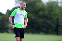 Mike van der Hoorn of Swansea City in action during the Swansea City Training at Fairwood Training Ground in Swansea, Wales, UK.  Thursday 18 July 2019
