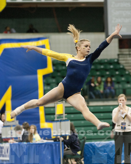 The University of Michigan women's gymnastics team lost to No. 5 Georgia at the EMU Convocation Center in Ypsilanti, Mich. on March 9, 2012.