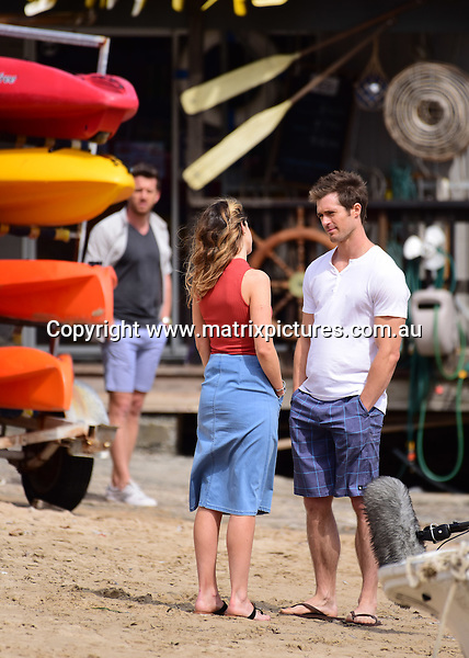 Home and Away filming at Palm Beach on 31 August 16 | MATRIXPICTURES AU
