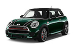 2016 MINI MINI JCW 3 Door Hatchback Angular Front stock photos of front three quarter view