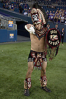Sept 01, 2012:  San Diego State mascot Monty Montezuma during the game against Washington.  Washington defeated San Diego State 21-12 at CenturyLink Field in Seattle, Washington...