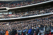 5th November 2017, Wembley Stadium, London England; EPL Premier League football, Tottenham Hotspur versus Crystal Palace; Spurs fans stand for a minutes silence at Wembley Stadium for those who have died in wars