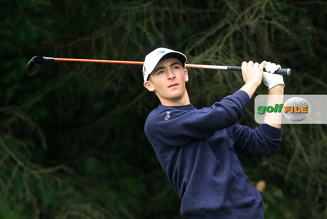 Adrien Pendaries (France) on the 2nd tee during Round 3 of the Irish Boys Amateur Open Championship at Tuam Golf Club on Thursday 25th June 2015.<br /> Picture:  Thos Caffrey / www.golffile.ie