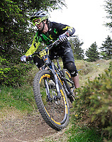 18th May 2014; Alex Tucker, Gravity Enduro Mountain Biking Round 2, Ticknock Hill, Co Dublin. Picture credit: Tommy Grealy/actionshots.ie.