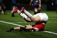 Vivianne Miedema of Arsenal takes a tumble during Arsenal Women vs Manchester United Women, FA WSL Continental Tyres Cup Football at Meadow Park on 7th February 2019