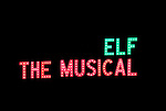 Theatre Marquee for the First Performance Curtain Call of the Broadway Holiday Hit Musical 'Elf'  at the Al Hirschfeld  Theatre in New York City on 11/09/2012