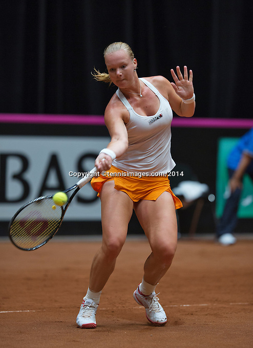 The Netherlands, Den Bosch, 16.04.2014. Fed Cup Netherlands-Japan, Kiki Bertens (NED)<br /> Photo:Tennisimages/Henk Koster