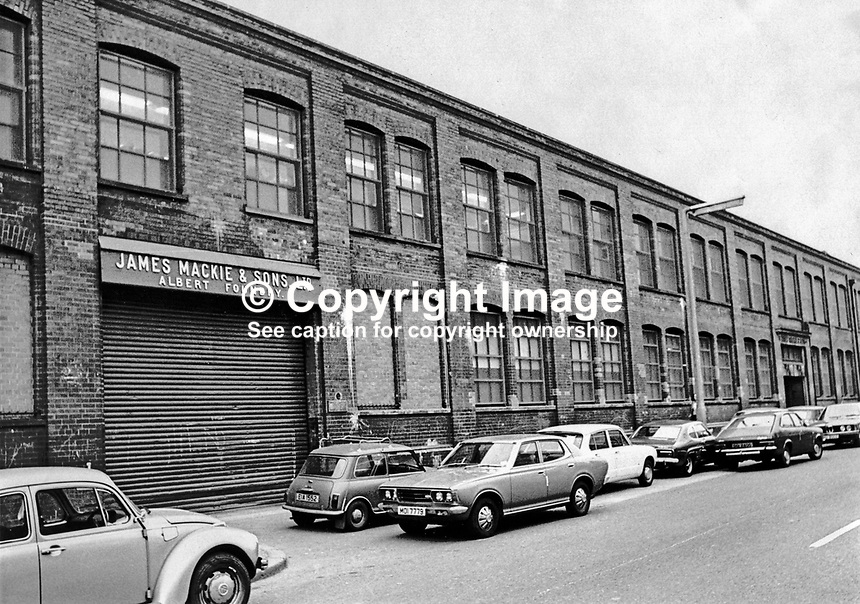 James Mackie &amp; Sons Ltd, Albert Foundry building, main factory, Springfield Road, Belfast, N Ireland, UK. 197709212001.<br />