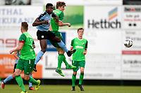 RODINGHAUSEN, Voetbal, Rodinghausen - FC Groningen, voorbereiding  seizoen 2017-2018, 15-07-2017,  FC Groningen speler Joel Donald met Stefan Langemann
