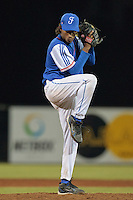 17 August 2010: David Van Heyningen of Team France pitches against Czech Republic during the Czech Republic 4-3 win over France, at the 2010 European Championship, under 21, in Brno, Czech Republic.