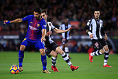 7th January 2018, Camp Nou, Barcelona, Spain; La Liga football, Barcelona versus Levante; Luis Suarez of FC Barcelona shields the ball for a shot on goal