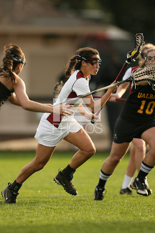 STANFORD, CA - FEBRUARY 18:  Amanda Schwab of the Stanford Cardinal during Stanford's 15-10 win over Albany on February 18, 2009 at Laird Q. Cagan Stadium in Stanford, California.
