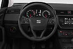 Car pictures of steering wheel view of a 2018 Seat Ibiza Reference 5 Door Hatchback