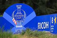 The 8th tee during Day 2 Foursomes at the Solheim Cup 2019, Gleneagles Golf CLub, Auchterarder, Perthshire, Scotland. 14/09/2019.<br /> Picture Thos Caffrey / Golffile.ie<br /> <br /> All photo usage must carry mandatory copyright credit (© Golffile | Thos Caffrey)