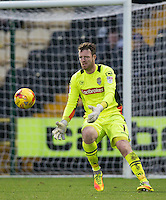 Goalkeeper Adam Collin of Notts Co during the Sky Bet League 2 match between Notts County and Wycombe Wanderers at Meadow Lane, Nottingham, England on 10 December 2016. Photo by Andy Rowland.