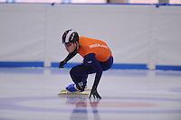 SCHAATSEN: LEEUWARDEN: 08-10-2015, Elfstedenhal, shorttrack Time Trial, Leon Bloemhof, ©foto Martin de Jong