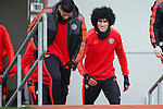 Marouane Fellaini of Manchester United during the UEFA Europa League training at the AON Carrington training complex. Photo credit should read: Philip Oldham/Sportimage