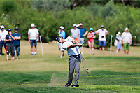 Thomas Pieters (BEL) on the 9th during the 1st round of the 2017 Portugal Masters, Dom Pedro Victoria Golf Course, Vilamoura, Portugal. 21/09/2017<br /> Picture: Fran Caffrey / Golffile<br /> <br /> All photo usage must carry mandatory copyright credit (&copy; Golffile | Fran Caffrey)