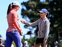 Silvia Brunotti wins the New Zealand Amateur Golf Championship final against Rose Zheng at Russley Golf Course, Christchurch, New Zealand. Sunday 5 November 2017. Photo: Simon Watts/www.bwmedia.co.nz